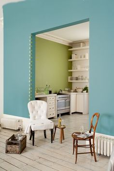 Sea Urchin 2 from Dulux is a paler version of teal and looks great with natural neutrals