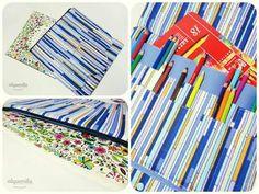Capa para livros anti stress espaço para aprox 30 lápis www.alquemila.com