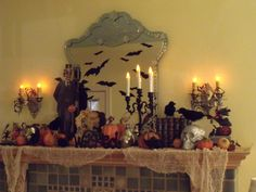 Mod Vintage Life: Halloween Fireplace Mantel