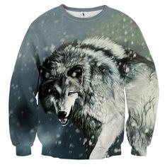 Calm Grey Wolf Snowing Weather Stylish Design Sweatshirt  #Calm #GreyWolf #Snowing #Weather #Stylish #Design #Sweatshirt