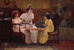 Jones, Francis Coates (b,1857)- Girls Playing Checkers