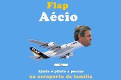 Depois de Flappy Bird, agora 'Flap Aécio' – para ajudar a pousar no aeroporto da família - Blue Bus