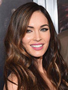 Megan Fox's pink lips and lush lashes.