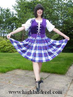 Aboyne with purple vest Scottish Highland Dance, Purple Vests, Highland Games, Dance Outfits, Tartan, Scotland, Harajuku, Dancing, Snow White