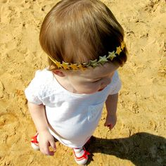 Gold star headbands rock all year long! So simple but yet so stylish.