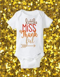 Little Miss Thankful Onesie, Thanksgiving Onesie, Girl thanksgiving onesie, Fall Onesie, Thankful Onesie by kreationsbychristine on Etsy (null)
