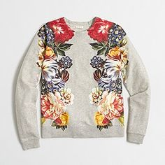 Factory floral sweatshirt