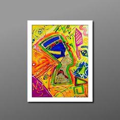 """Vor Dir siehst du die Büste der Nofretete. Ihr Name bedeutet übersetzt so viel wie """"Die Schöne ist gekommen"""". Das Gemälde ist der Auftakt der neuen """"Diamond Collection"""", einer Serie energievoller und farbgewaltiger Gemälde, die es sich zum Ziel nimmt, offen über die Krankheit Depression zu reden. Ich habe versucht meine neu gewonnene Energie auch auf die Leinwand zu übertragen. Hier trifft expressive Wucht auf moderne Eleganz. Höhe: 90 Zentimeter; Breite: 70 Zentimeter/Acryl auf Leinwand/ Depression, Playing Cards, Beauty, Goal, Crystals, Canvas, Kunst, Playing Card Games, Beauty Illustration"""