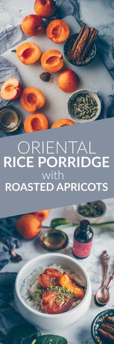 Oriental Rice Porridge with Roasted Apricots and Pistachios by Kati of black.white.vivid. (Vegan Recipe)