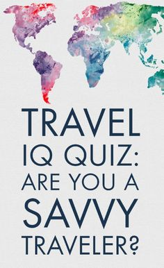 Think you're a savvy world traveler? Take our travel trivia quiz to see just how well you know this beautiful world of ours.