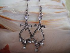 Beautiful Victorian look earring by DeliBejeweled on Etsy, $5.99