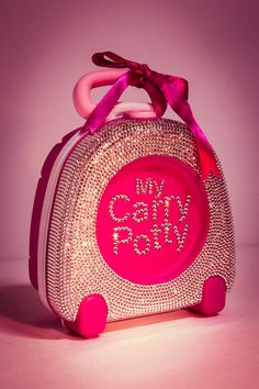 The dazzling My Carry Potty covered with Swarovski crystals!