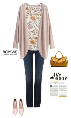 """""""romwe cardigan"""" by tawnee-tnt ❤ liked on Polyvore featuring Hudson Jeans, Oasis, women's clothing, women, female, woman, misses and juniors"""