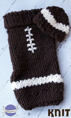 Ravelry: Football Hat and Cocoon Set by Kristi Greeson