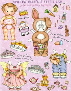 Mary Engelbreit Easter paper doll, found at Jigidi