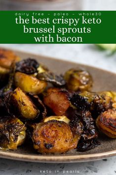 With this failsafe recipe for the BEST crispy keto brussel sprouts from Keto in Pearls, you won't have to worry about soggy or stinky sprouts ever again! This dairy-free, paleo, and Whole30 compliant brussel sprout recipe will be your new favorite way to make sprouts at home! They make a great side dish for any meal, even for the holidays! #ketoveggies #ketovegetablerecipes #ketodinnerrecipes #ketodinner #paleo #dairyfree