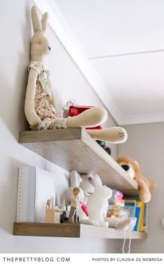 Floating shelves in baby's nursery | Photography: Yolandé Marx + Claudia de Nobrega