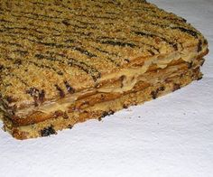 Hozzávalók: A tésztához: 45 dkg liszt, 10 dkg puha vaj, evőkanál akác­méz… Croatian Recipes, Hungarian Recipes, Poppy Cake, Homemade Sweets, Sweet Cookies, Christmas Snacks, Cake Bars, Sweet And Salty, Winter Food