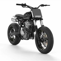 "dropmoto: "" Another take on the @dab_design_ Honda NX650 design. Looks like a ton of fun! #streettracker #honda #dominator #nx650 #tracker #flattrack #supermoto "" †"