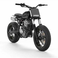 "dropmoto: "" Another take on the @dab_design_ Honda NX650 design. Looks like a ton of fun! #streettracker #honda #dominator #nx650 #tracker #flattrack #supermoto "" †"