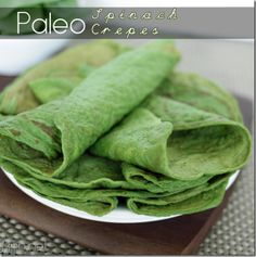 #paleo spinach crepes