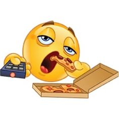 Illustration about Couch potato slob emoticon watching TV and eating pizza. Illustration of clipart, face, potato - 95839914 Funny Emoji Faces, Emoticon Faces, Funny Emoticons, Images Emoji, Emoji Pictures, Smiley Emoji, Clipart, Logo Image, Emoji Characters