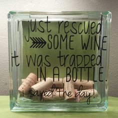 Hey, I found this really awesome Etsy listing at https://www.etsy.com/listing/216043948/large-glass-block-wine-cork-collector