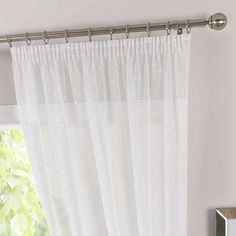 Completed in a white colourway, this sheer voile panel features a repeated square design and is machine washable. Blue Lounge, Voile Panels, Curtains, House, Design, Blinds, Home, Draping