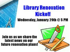 On Wednesday, January 29th @ 5 PM (right before our Tim Dorsey program), join the St. Pete Beach Library for our Library Renovation Kickoff!