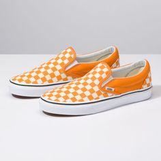 65a4317775 Vans Checkerboard Slip-On dark cheddar true white Vans Checkerboard Slip On