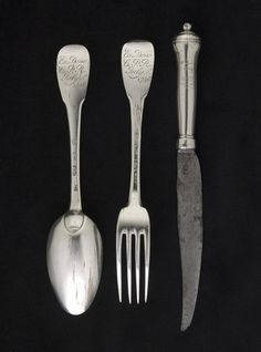 Silver cutlery given to Bonnie Prince Charlie