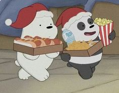 Awww look At pan pan and ice bear snacking without frizz  Ice Bear We Bare Bears, We Bear, Cartoon Cartoon, Cute Disney Wallpaper, Cute Cartoon Wallpapers, Vintage Cartoons, We Bare Bears Wallpapers, Cartoon Profile Pictures, Horror Movie Posters