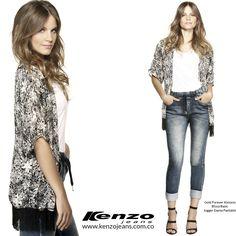Un kimono es la pieza para un look relajado y a la moda, lo puedes usar para el fin de semana o para la oficina. #KenzoJeans www.kenzojeans.com.co