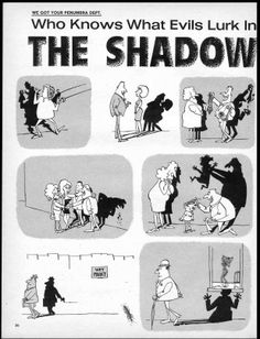 The Shadow Knows! 01 Sergio Aragones showing how simple it is to make us laugh - MAD Magazine 1960's