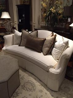 Our wonderful, extremely #talented #InteriorDesigner #LindaCaruso LOVES this beautiful curved #sofa by #CenturyFurniture! It's is #oneofakind and a #musthave! It's so #unique & would look lovely in your #livingroom! Own it today! #InteriorDesign #Design #LuxuryFurniture #Furniture #Home #HomeDecor #Decor #HomeDesign #Design   For more information visit www.WHLuxe.com