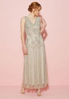 Perfect, As Planned Maxi Dress in Champagne | Mod Retro Vintage ...