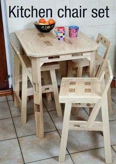 #648 Kitchen ChairPlans - Furniture Plans and Projects