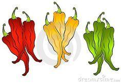 embroddery pattren hot pepers - Google zoeken
