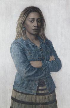 Kapa Haka - Portrait of Delphine. Philip Holmes
