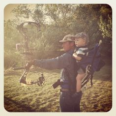 a bowhunting dad babysitting for the day