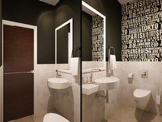 Ванная. Дизайн интерьера трехкомнатной квартиры на Фермском шоссе