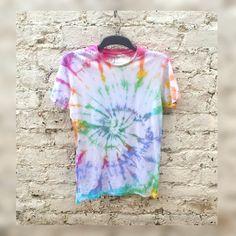 Tie Dye Rainbow Shirt Hippie Tshirt Unisex ALL SIZES by AbiDashery