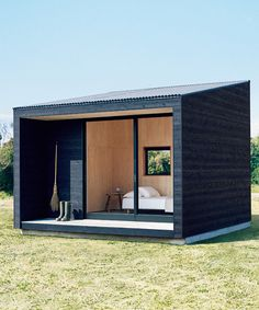 muji releases minimalist tiny hut for compact cabin living