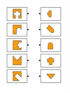 Printable brain teaser worksheets for kids in preschool, kindergarten, grade make square shapes by adding each shape on the left to a shape on the right. Test For Kids, Math For Kids, Puzzles For Kids, Kindergarten Math Worksheets, Worksheets For Kids, Education Positive, Kids Education, Infant Activities, Preschool Activities