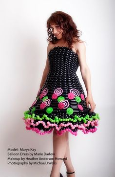 Balloon Dresses - Model:  Marya Kay, Photographer:  Mike Wells, Hair/MU:  Heather Howard