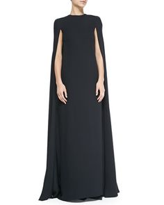 Silk Cape Gown by Valentino at Neiman Marcus.