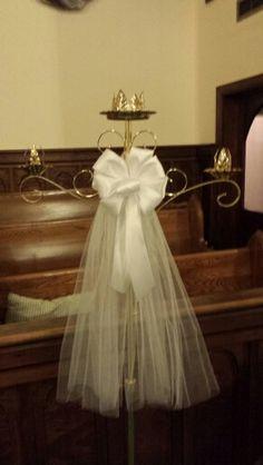 Dressed up unity candle holder Linda Miller, Unity Candle Holder, Girls Dresses, Flower Girl Dresses, Dress Up, Candles, Weddings, Wedding Dresses, Fashion