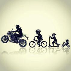 its my evolution in one picture xD Motorcycle Tattoos, Motorcycle Bike, Moto Enduro, Evolution, Duke Bike, Motos Yamaha, Ducati, Bike Photoshoot, Bike Sketch