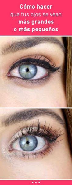 Cómo hacer que tus ojos se vean más grandes o más pequeños. Trucos de maquillaje #maquillaje #pestañas #somras #ojos #grandes #pequeños