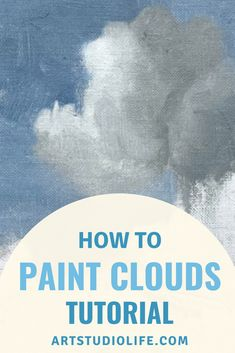 Learn cloud painting techniques in this how to paint clouds tutorial. Complete with a full on cloudy sky painting tutorial with step by step process images. Oil Painting For Beginners, Oil Painting Techniques, Acrylic Painting Lessons, Acrylic Painting Techniques, Sky Painting, Beginner Painting, Cloud Art, Learn To Paint, Pictures To Paint